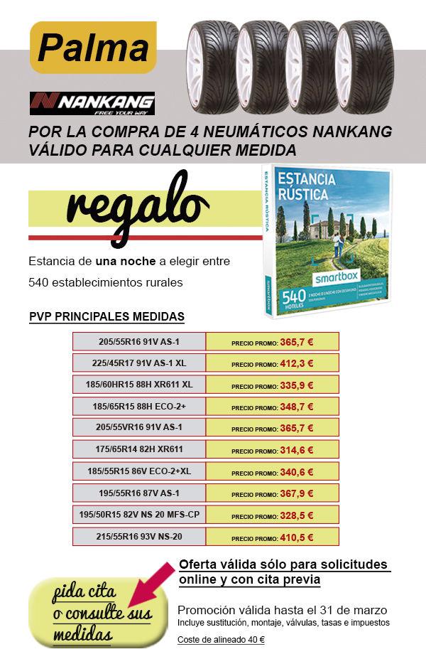 OFERTA DE NEUMÁTICOS NANKANG EN AUTOMÓVILES PALMA