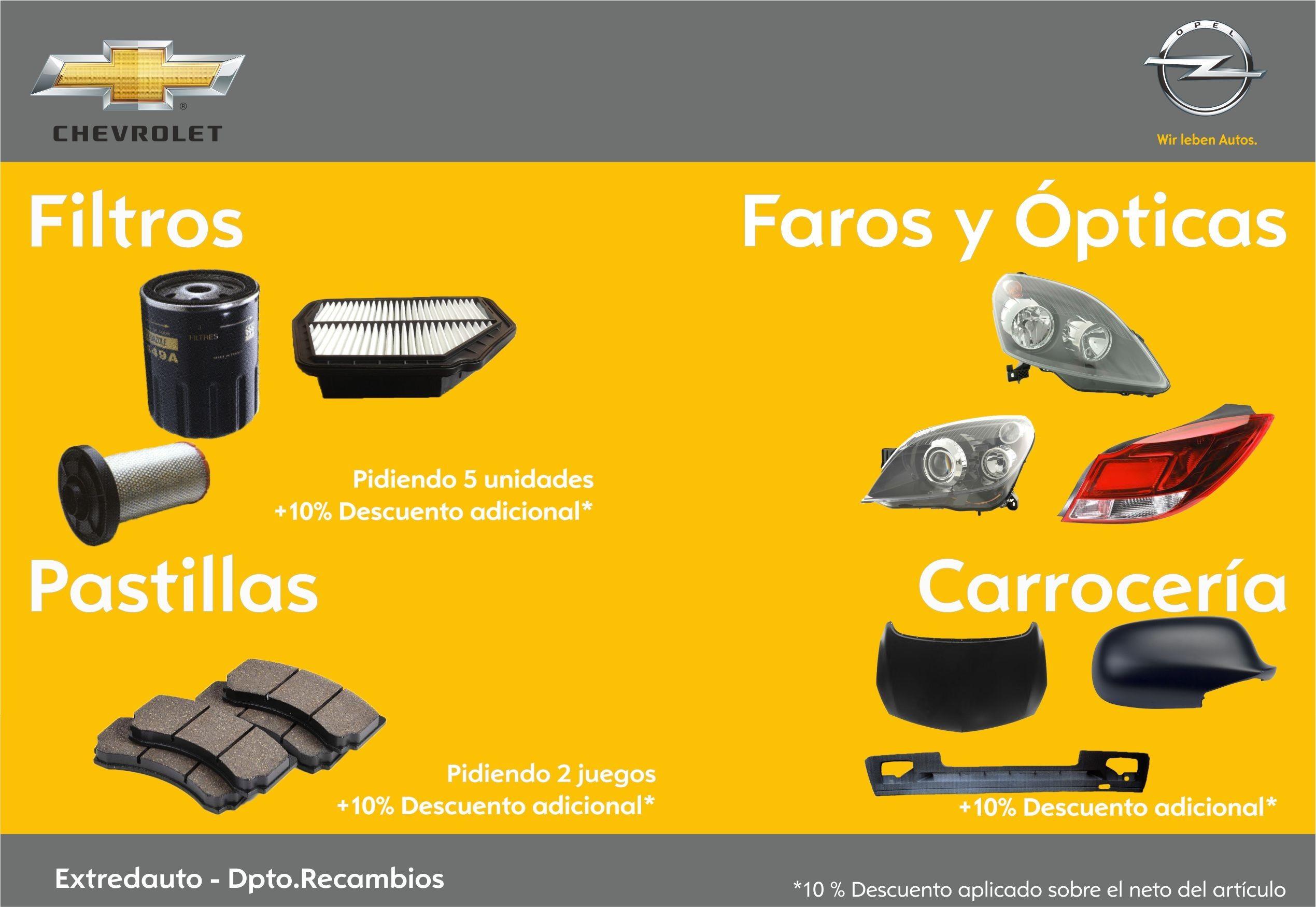 Promoción en recambios Opel y Chevrolet
