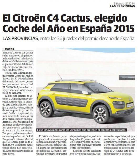 CITROEN C4-CACTUS COCHE DEL AÑO