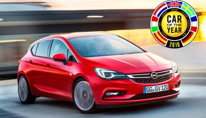 """Opel Astra ganador del premio """"Coche del año"""" en Europa 2016"""
