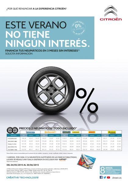 Financia tus neumáticos en 3 meses sin intereses
