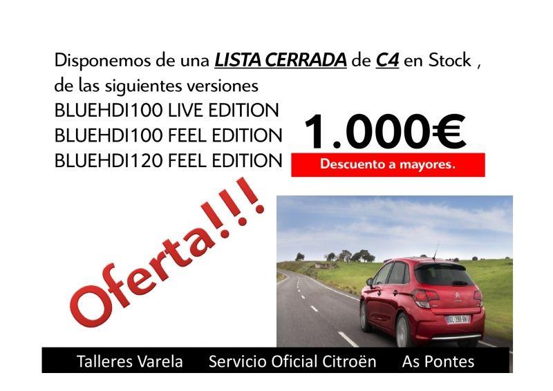 Oferta lista cerrada C4 en Stocks Descuento 1.000 €