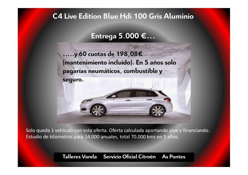 C4 Blue Hdi 100 Live Edition Gris Aluminio