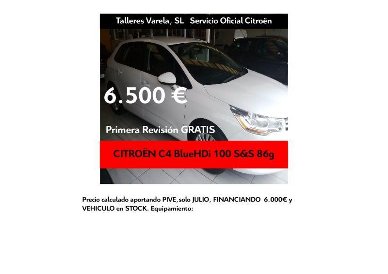 Oferta JULIO C4 BlueHDi 100 Bussines 6.500 € financiando 6.000 €