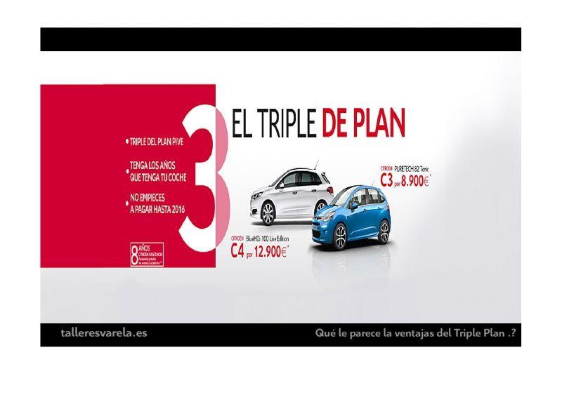 El Triple Plan para Citroën C3 y C4