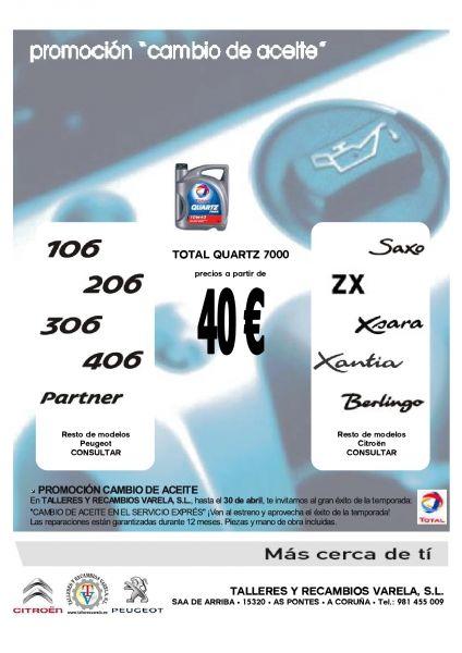 Total Quartz 10W40 Cambio aceite 40 €uros