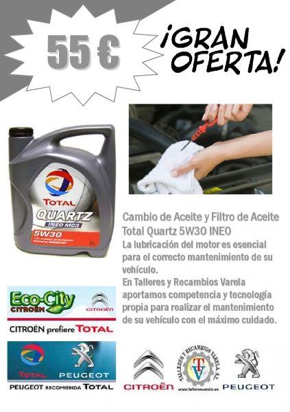 Total Quartz 5W30 INEO Cambio aceite 55 €uros