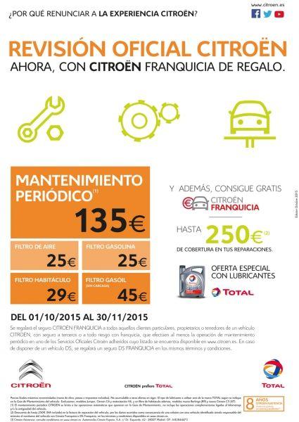 Revisión Oficial Citroën con Citroën Franquicia de regalo