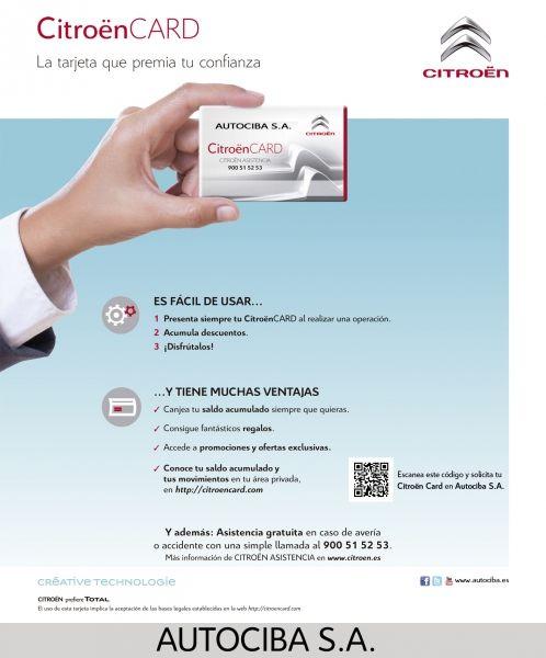 Nuevas tarjetas Citroën Card en Autociba