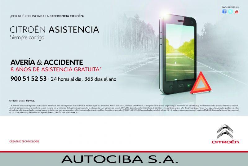 Disfruta del servicio gratuito de Citroën Avería y Accidente