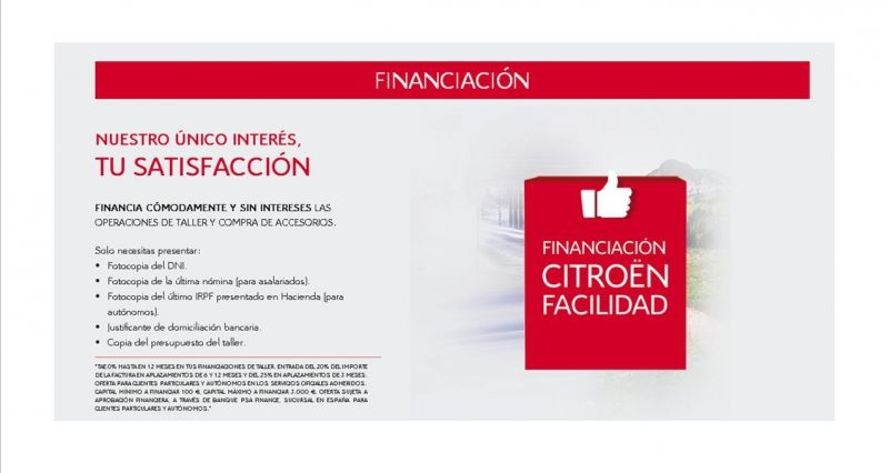 FINANCIACIÓN CITROËN FACILIDAD