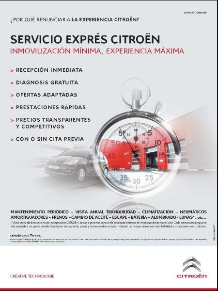 SERVICIO EXPRÉS CITROËN INMOVILIZACIÓN MÍNIMA, EXPERIENCIA MÁXIMA