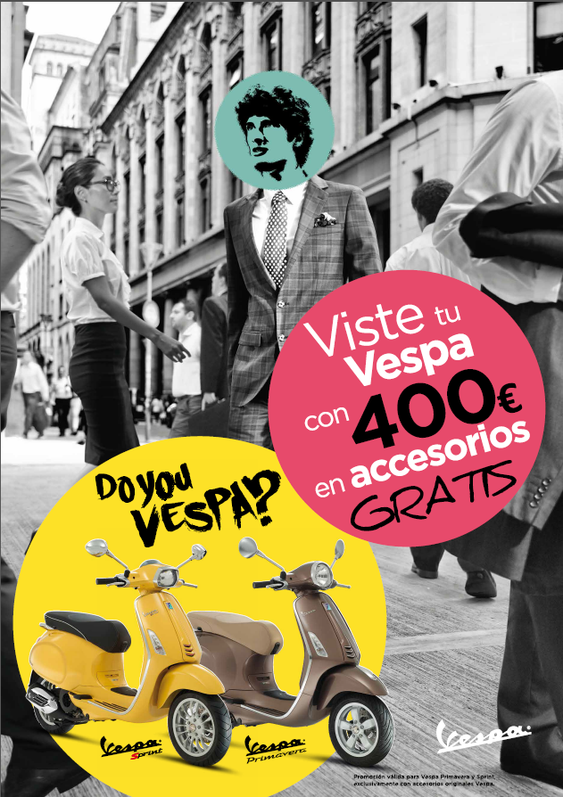Viste tu VESPA con 400€ en accesorios GRATIS