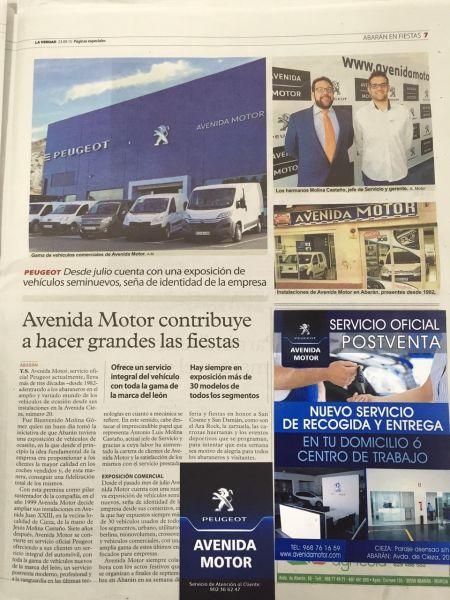 AVENIDA MOTOR CONTRIBUYE A HACER GRANDES LAS FIESTAS DE ABARAN!!