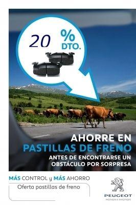 20% DTO. EN PASTILLAS DE FRENO