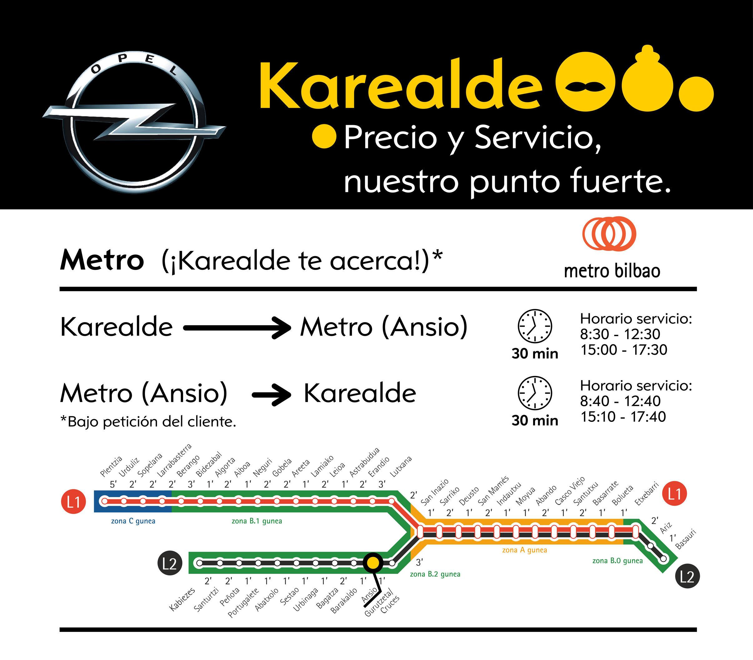 ¡Opel Karealde te acerca al Metro!
