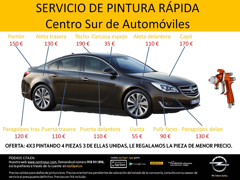 Servicio Pintura Rápida Centro Sur de Automóviles