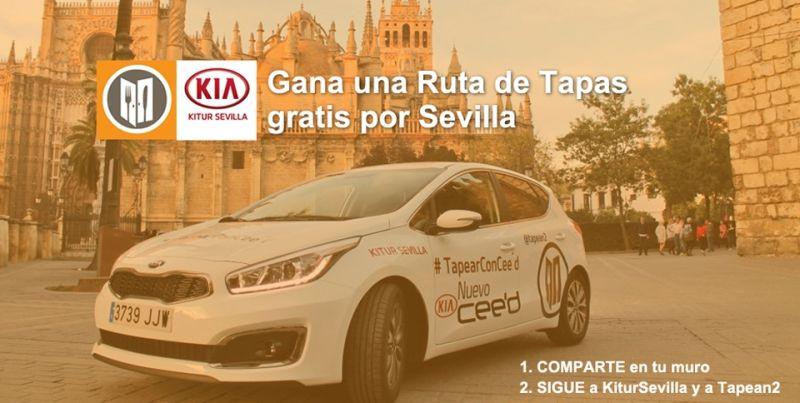 Consigue una Ruta de Tapas por Sevilla gratis con Kia Cee'd