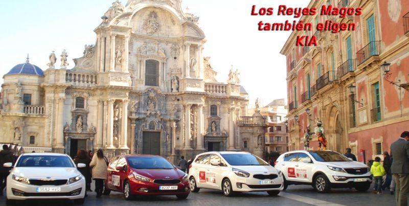 Los Reyes Magos eligen KIA para llegar a Murcia