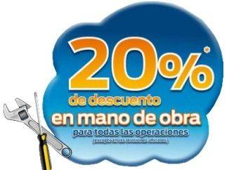 20% de descuento en mano de obra para todas las operaciones