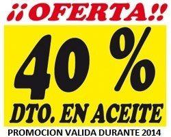 40% DTO. EN ACEITE