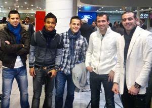 Los jugadores de Osasuna visitan Pamplona Car
