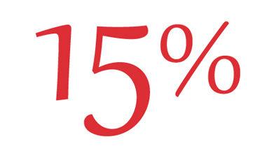 Te damos el 15% de descuento para usar en tu próxima visita