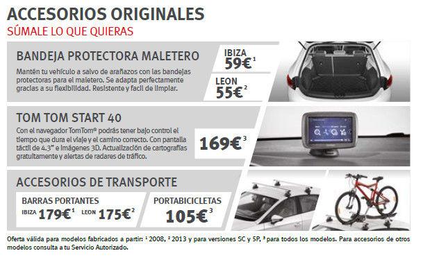Personaliza tu coche con accesorios originales Seat en Compostela Motor