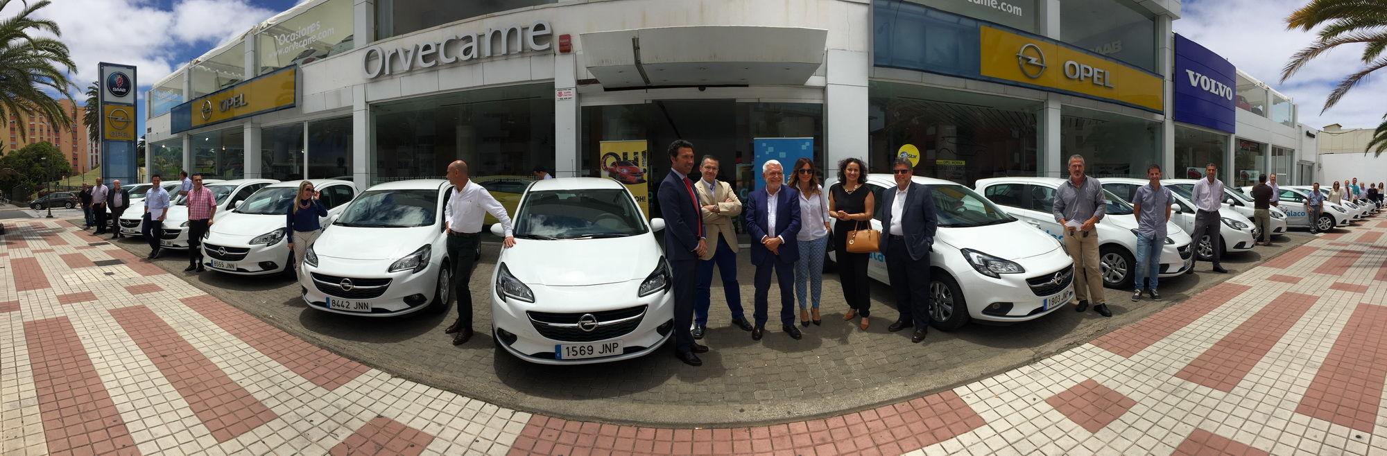Orvecame hace entrega a Galaco y Cadiex una flota de 58 Opel Corsa GLP Selective