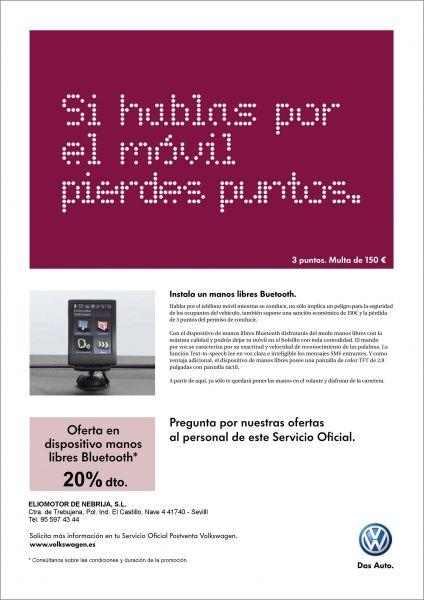 SI HABLAS POR EL MOVIL PIERDES PUNTOS.