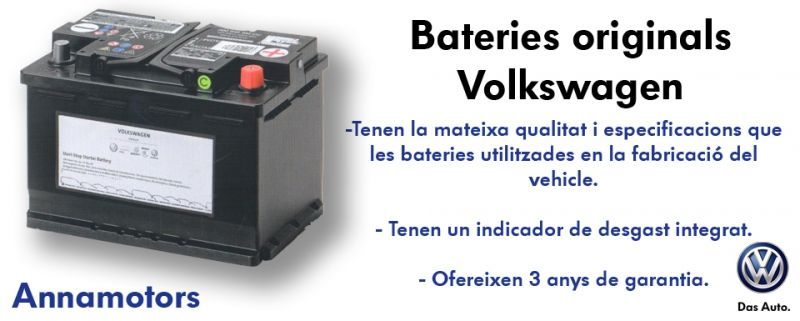Bateries originals Volkswagen.