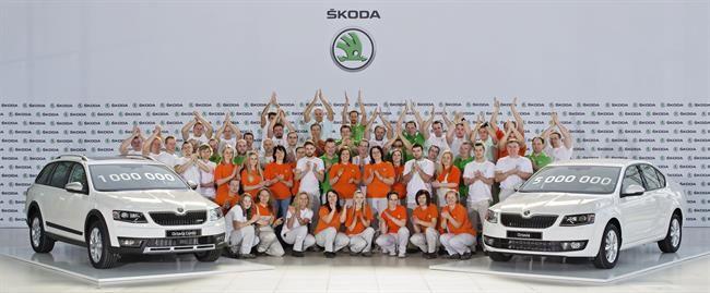 Skoda alcanza un millón de unidades producidas de la tercera generación del Octavia.