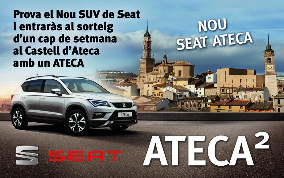 Prova el Nou SUV de Seat  i entraràs al sorteig  d'un cap de setmana  al Castell d'Ateca  amb un ATECA