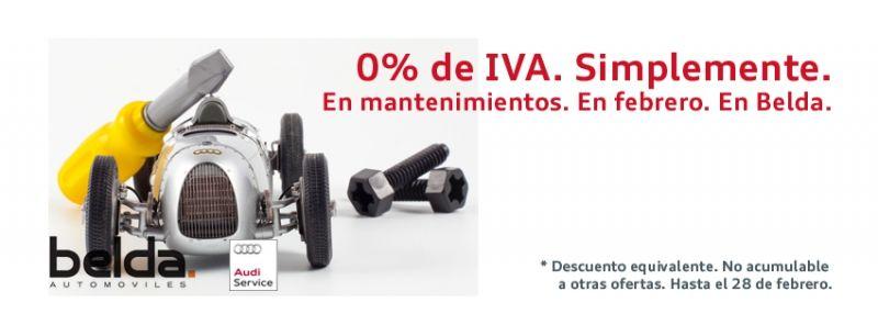 En febrero, 0% de IVA en Mantenimientos