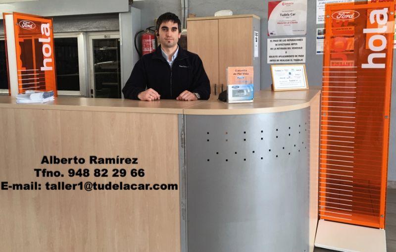 Alberto Ramirez, jefe de taller de Tudela Car