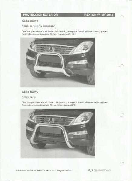 Accesorios Originales SsangYong: Mataburras / Defensas Rexton W