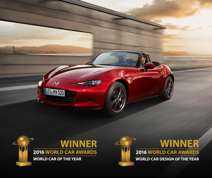 El Mazda MX-5 gana los premios World Car of the Year y World Car Design of the Year 2016