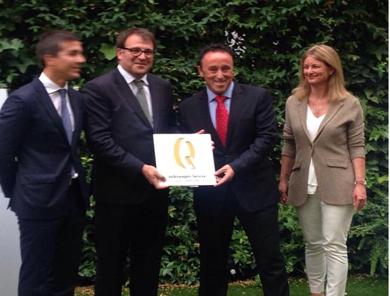Reusmòbil és reconeguda per Volkswagen amb el premi Service Quality Award