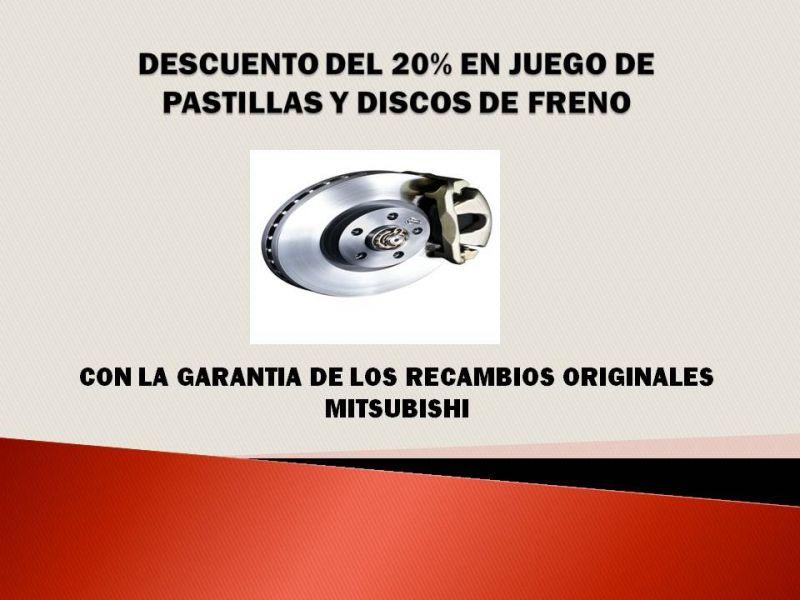 OFERTA EN JUEGOS DE DISCOS Y PASTILLAS DE FRENO