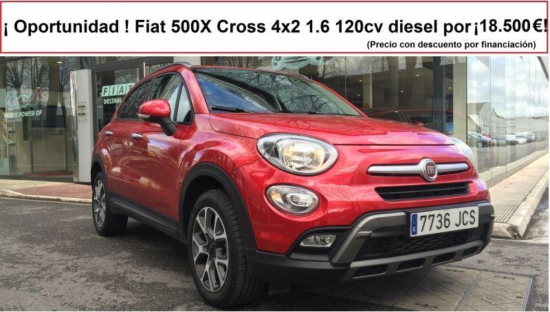¡ Fiat 500X Cross 4x2 1.6 diesel de 120cv por 18.500 !