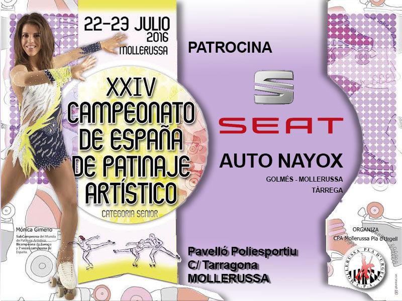 Auto Nayox patrocina el Campeonato de España de Patinaje Artístico