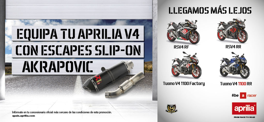 APRILIA V4 CON ESCAPES SLIP-ON AKRAPOVIC