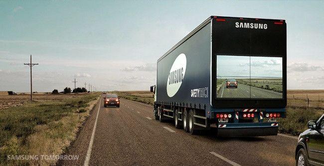 """El camión """"transparente"""" que evita accidentes al adelantar"""