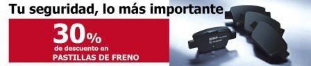 PASTILLAS FRENO 30% DE DESCUENTO