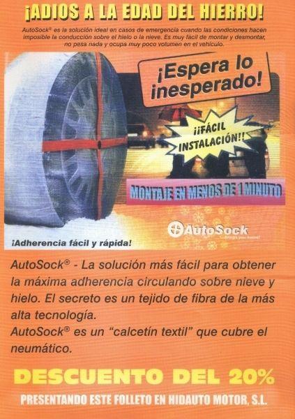 CADENA TEXTIL PARA LA NIEVE- MAXIMA ADHERENCIA Y SEGURIDAD