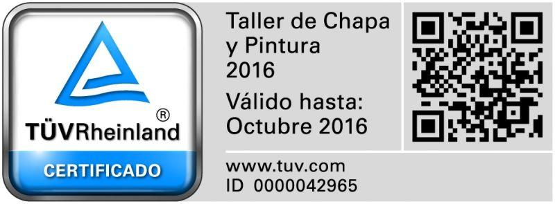 Certificación Chapa y Pintura Alcobendas