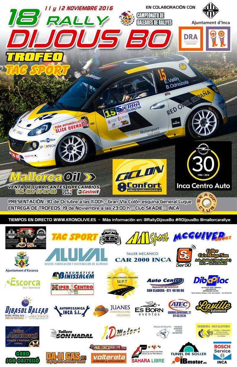 OPEL Inca Centro Auto patrocina el 18º Rally Dijous Bo