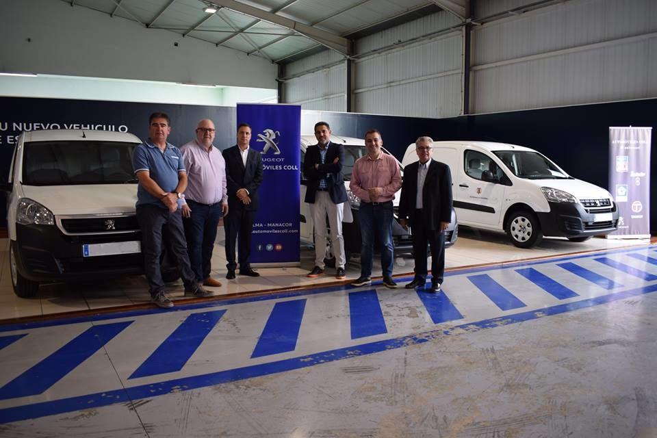 AUTOMÓVILES COLL HACE ENTREGA DE 3 PARTNERS ELÉCTRICAS A LOS MUNICIPIOS DE LLORET, SANTA EUGÉNIA Y SENCELLES
