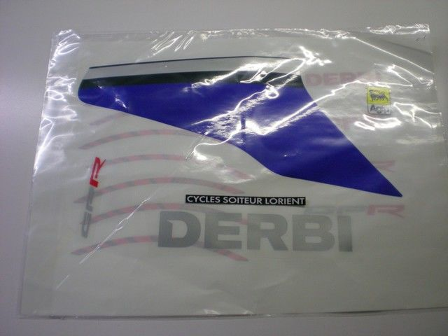 KIT PEGATINAS DERBI GPR 2T 2009 COLOR AZUL