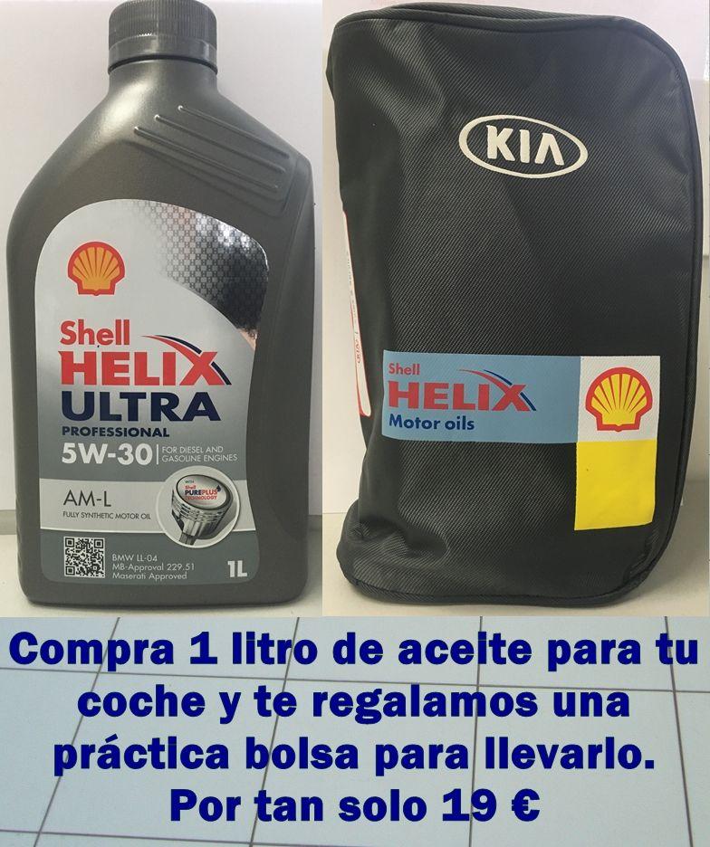 Por 1 litro de aceite, una bolsa de regalo